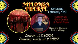 "Milonga Fuerte @ ""B"" Studio, Z Room Dance and Fitness"