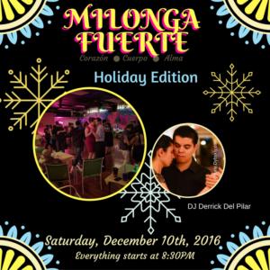 Milonga Fuerte - Holiday Edition @ Z Room Dance and Fitness