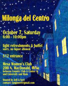 Milonga del Centro @ Mesa Women's Club